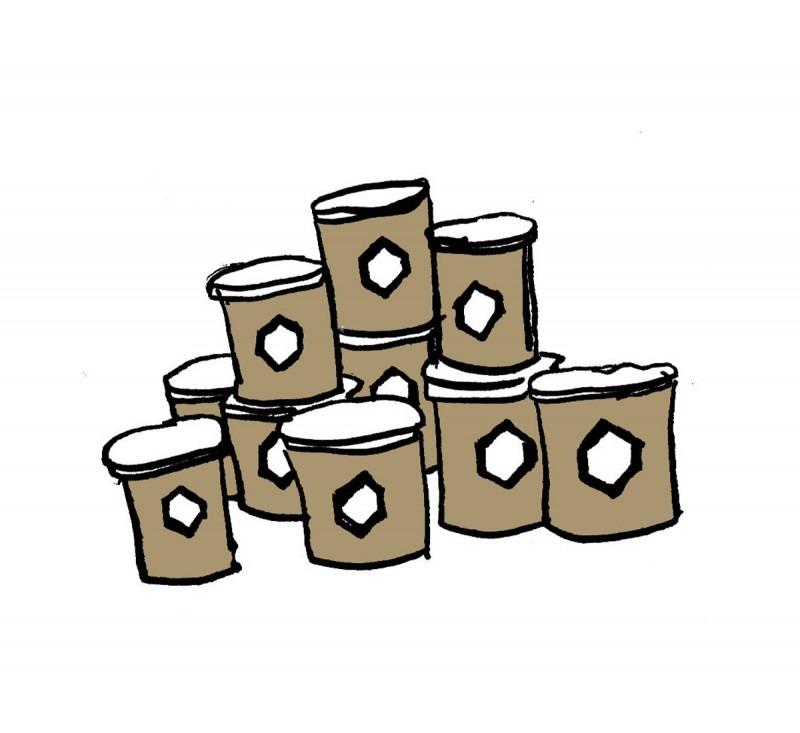 Honey in jars