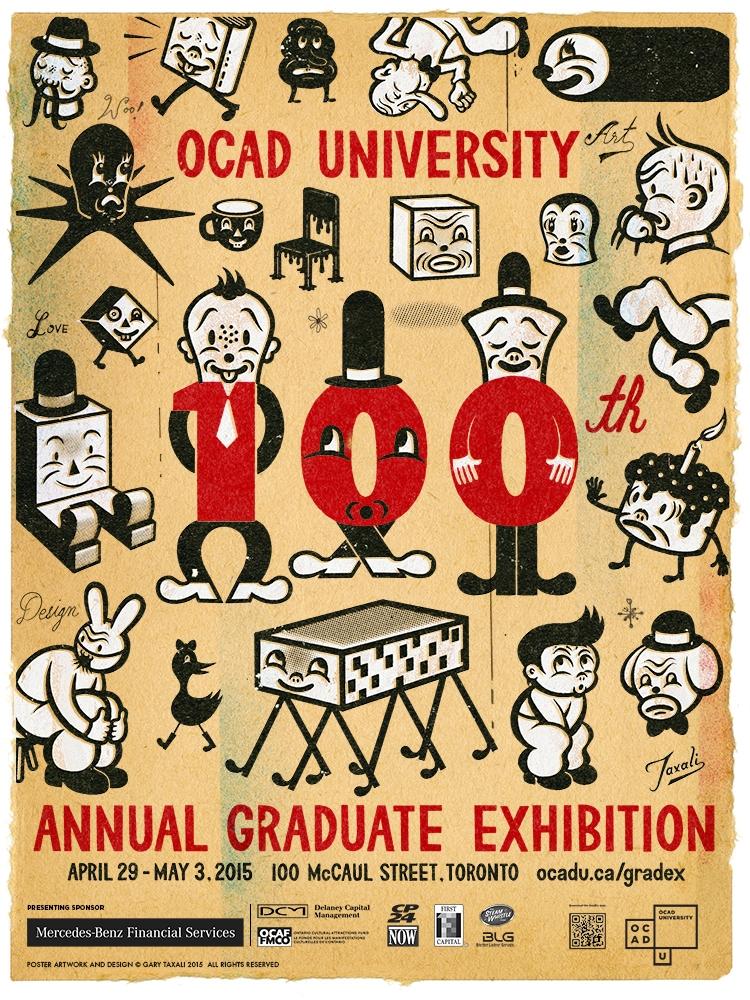 Poster for OCAD U GradEx 100