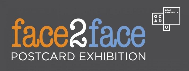 banner face2face: postcard exhibition 2018