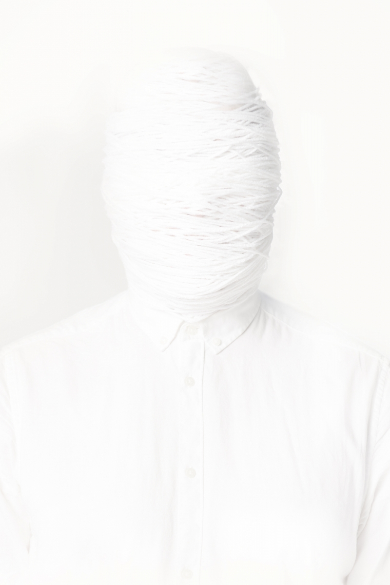 photo of a person wrapped in white material