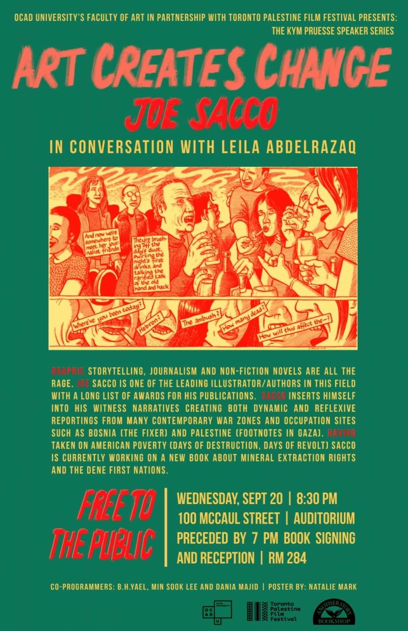 illustration and poster details of public talk