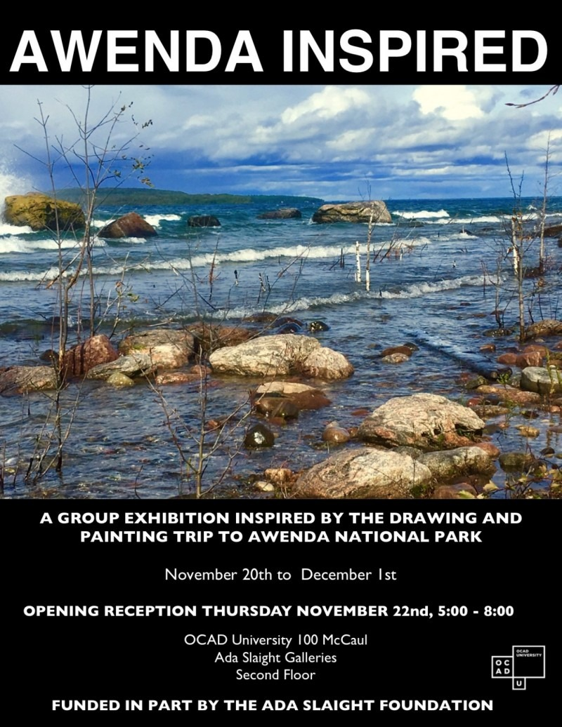 AWENDAINSPIRED poster, landscape photo and exhibition details