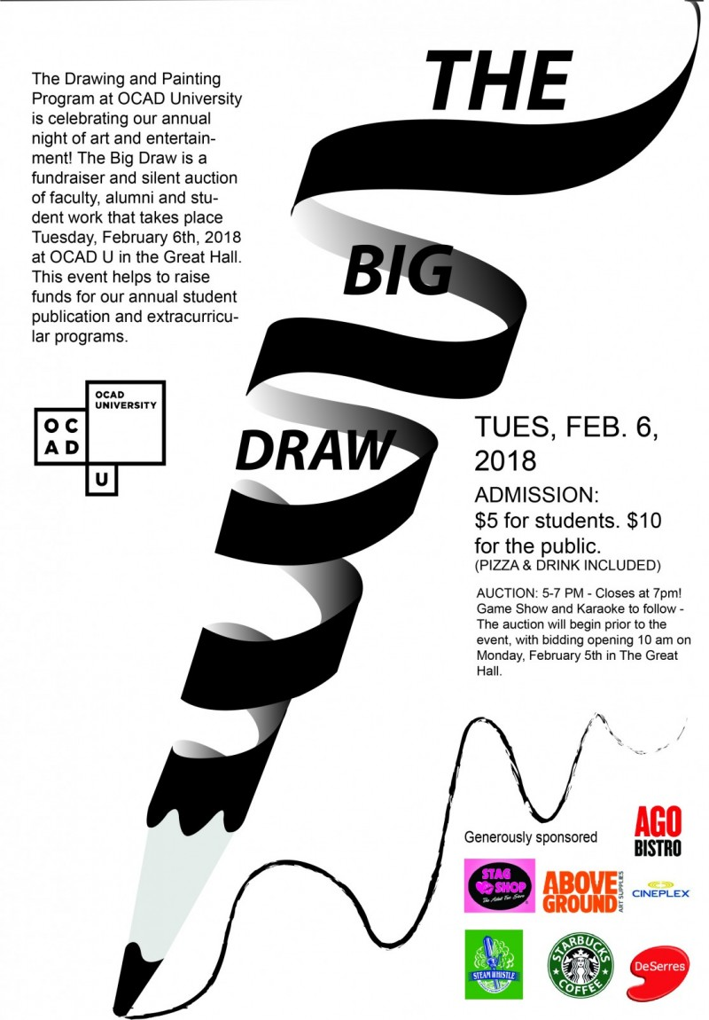 the big draw 2018 annual silent auction ocad university