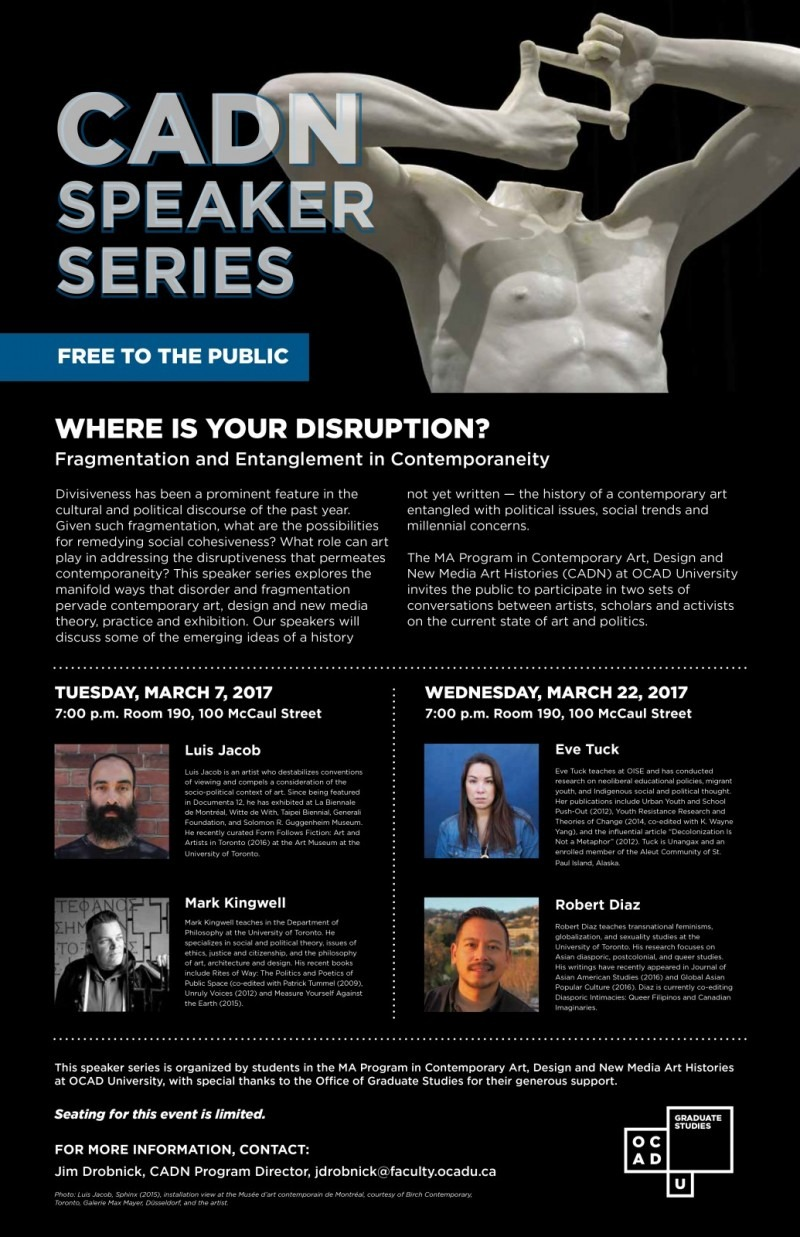 2017 CADN Speaker Series: Where is your Disruption?