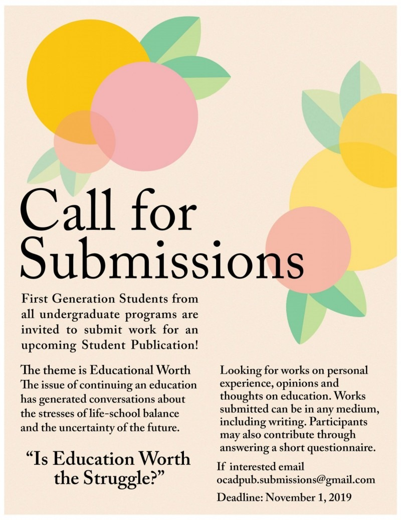 Call for submissions graphic