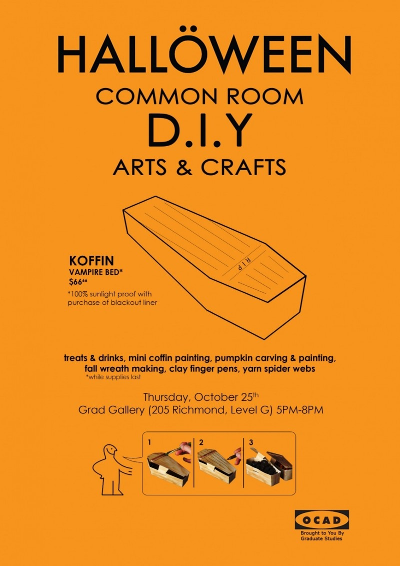 Join us for the spookiest Common Room of the year! Free treats & drinks, mini coffin painting, pumpkin carving & painting, fall