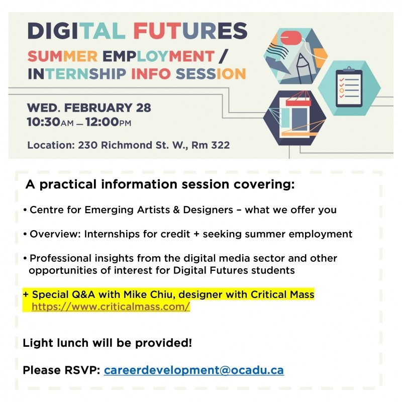 Digital Futures: Summer Employment + For-Credit Placements Poster