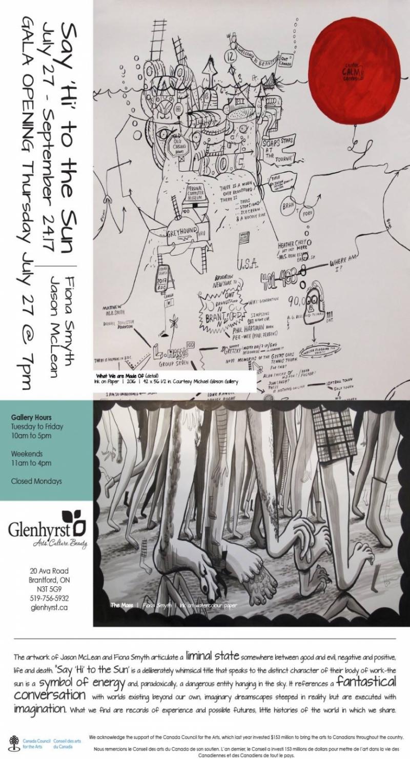Fiona Smyth and Jason McLean at Glenhyrst Art Gallery
