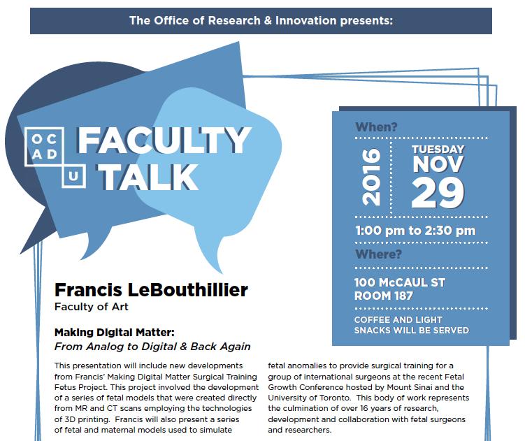 Faculty Talk