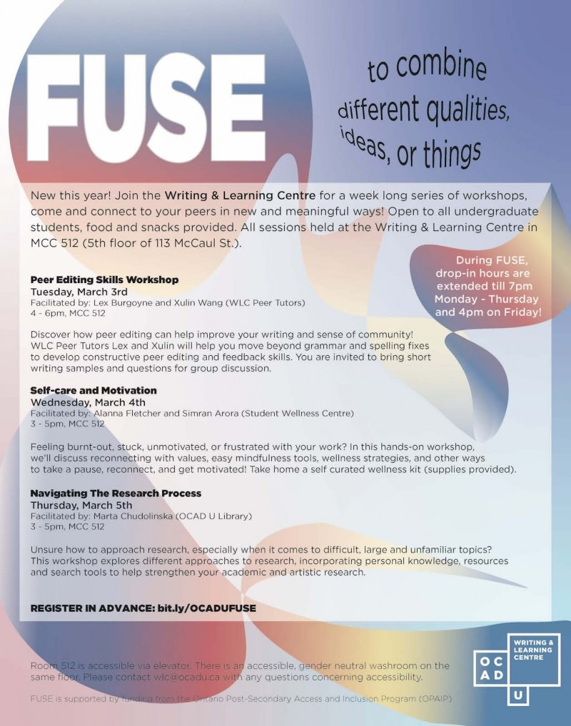 FUSE event poster