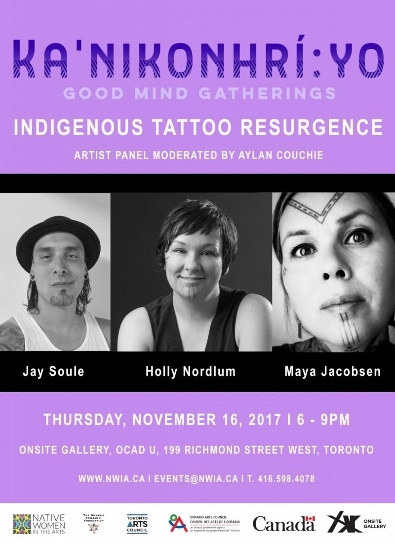 Ka'nikonhrí:yo Gatherings: Indigenous Tattoo Resurgence Panel