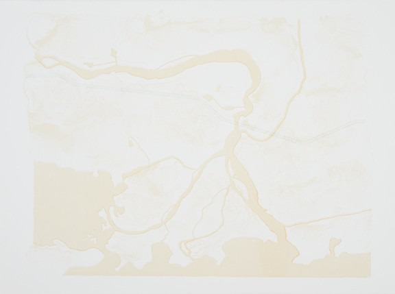 Lisa Myers,Blueprint, 2012. Serigraph on paper, 55.9 x 76.2 cm.Collection of Indigenous and Northern Affairs Canada