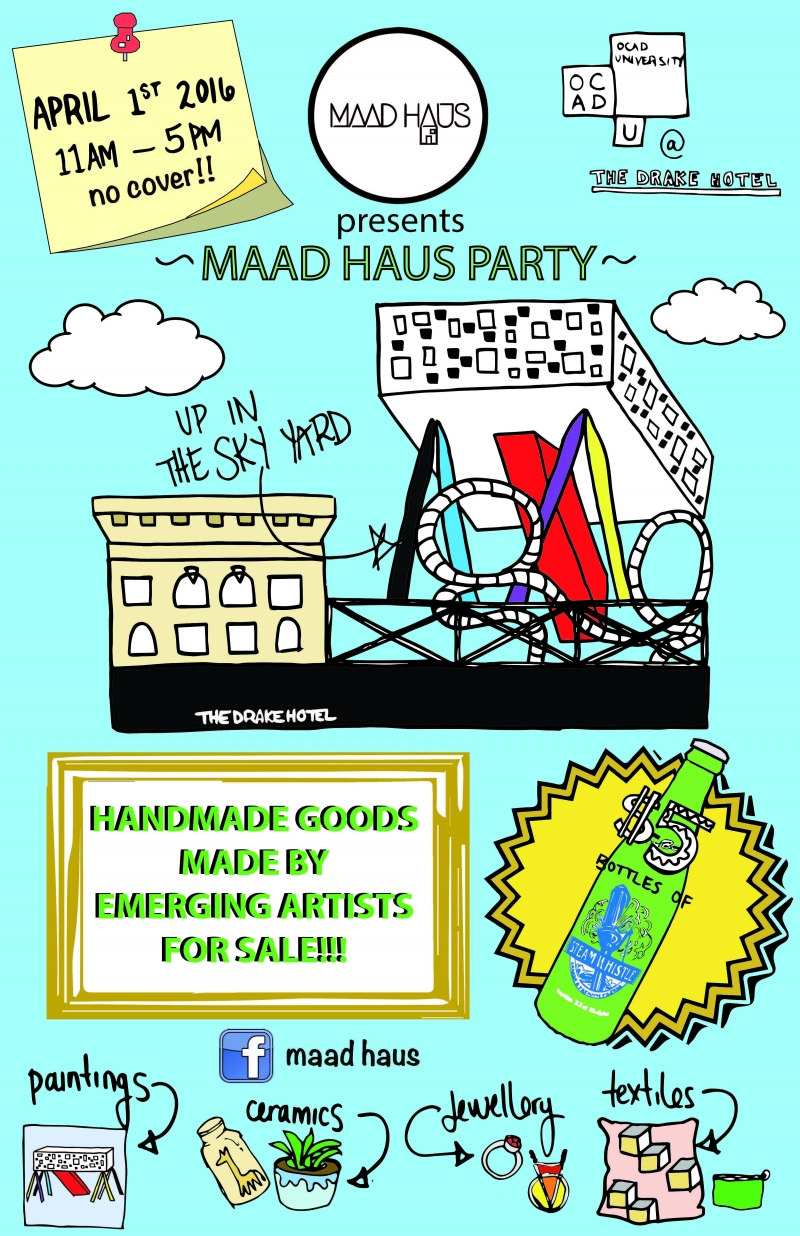 MAAD HAUS PARTY poster with event info