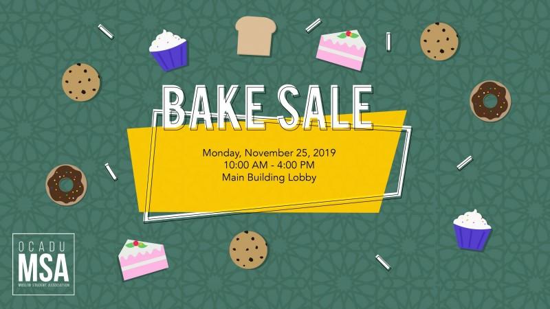 MSA - Bake Sale