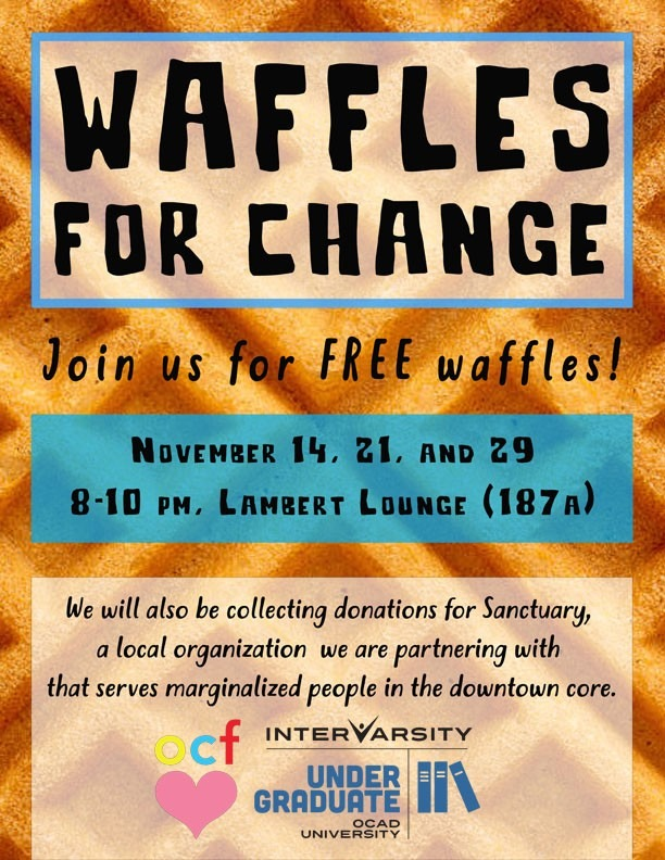 OCF Waffles for Change graphic