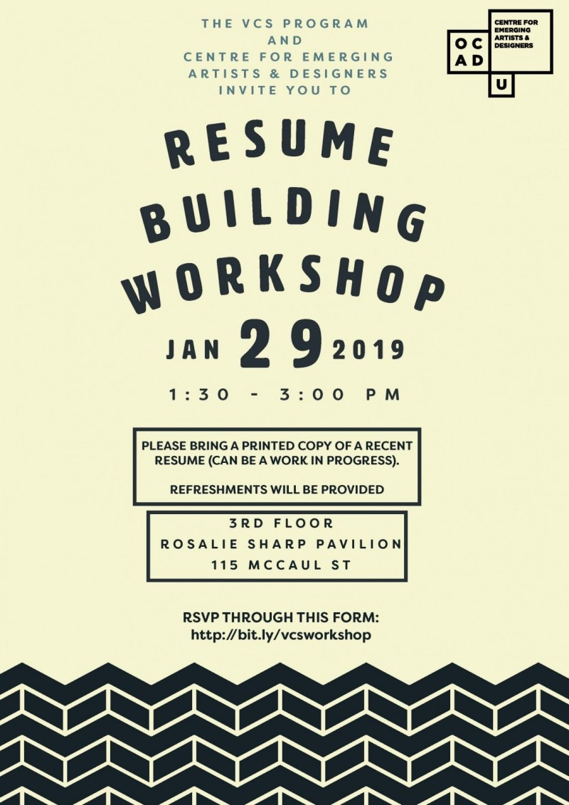 Resume Building Workshop Ocad University