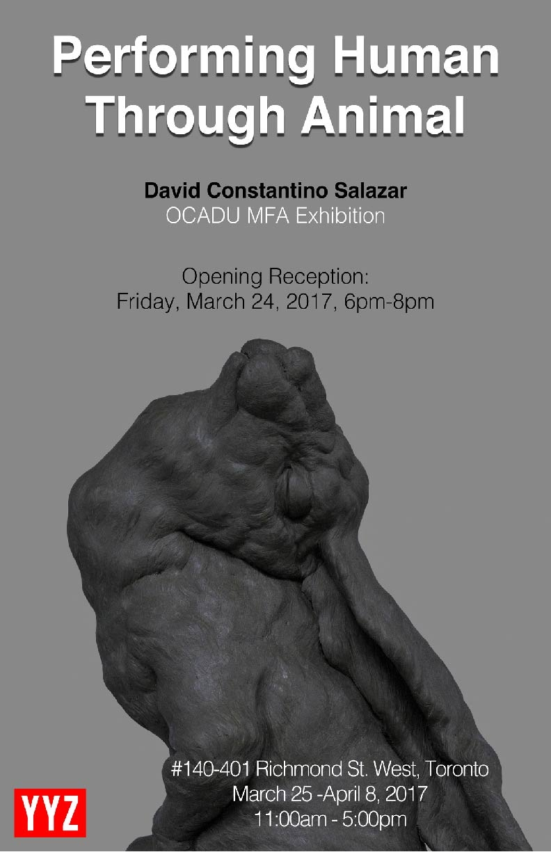 exhibition poster - image of sculpture of rabbit