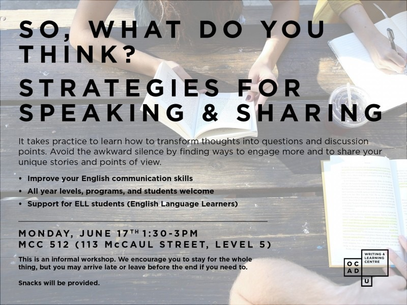 Summer Strategies To Improve Your >> So What Do You Think Strategies For Speaking Sharing