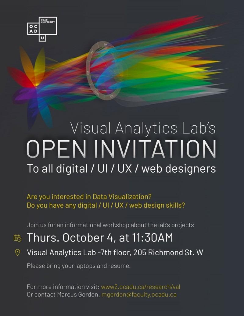 Visual Analytics Lab invites all digital / UI / UX / web designers