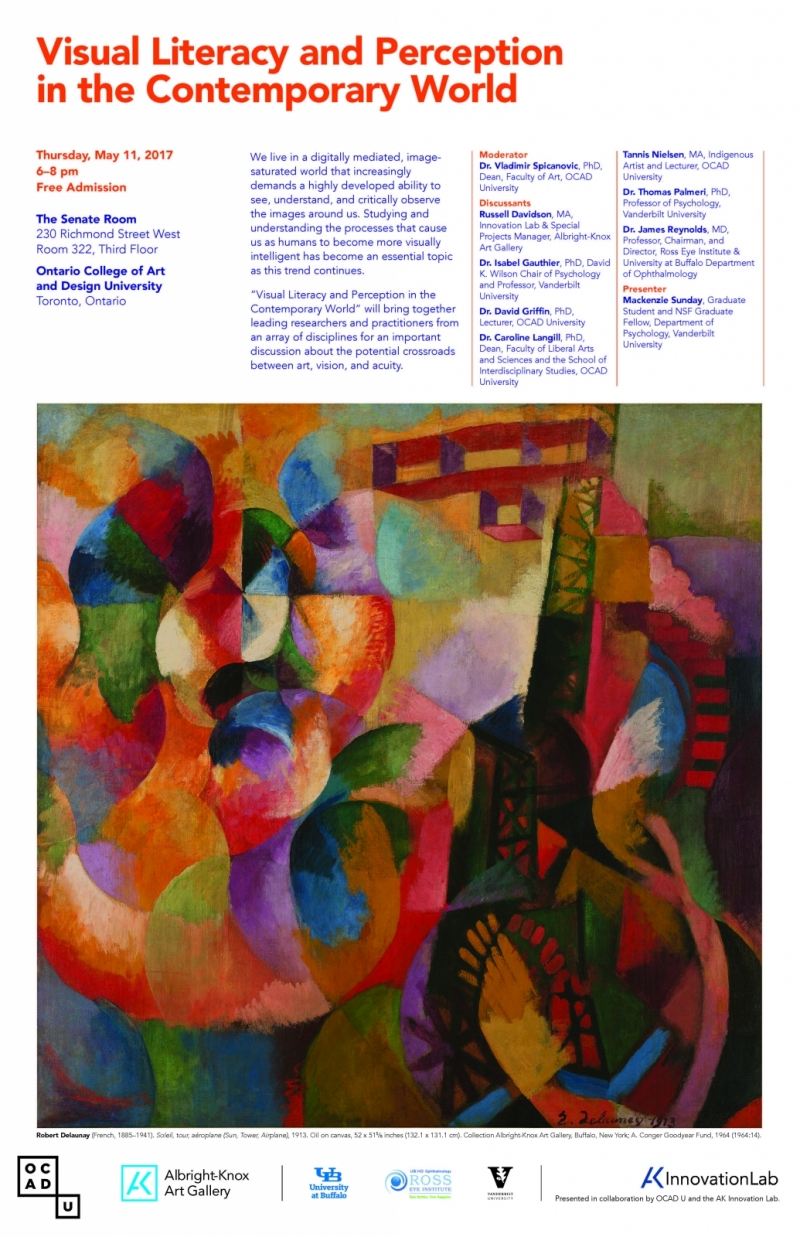 Poster with abstract image and panel discussion details
