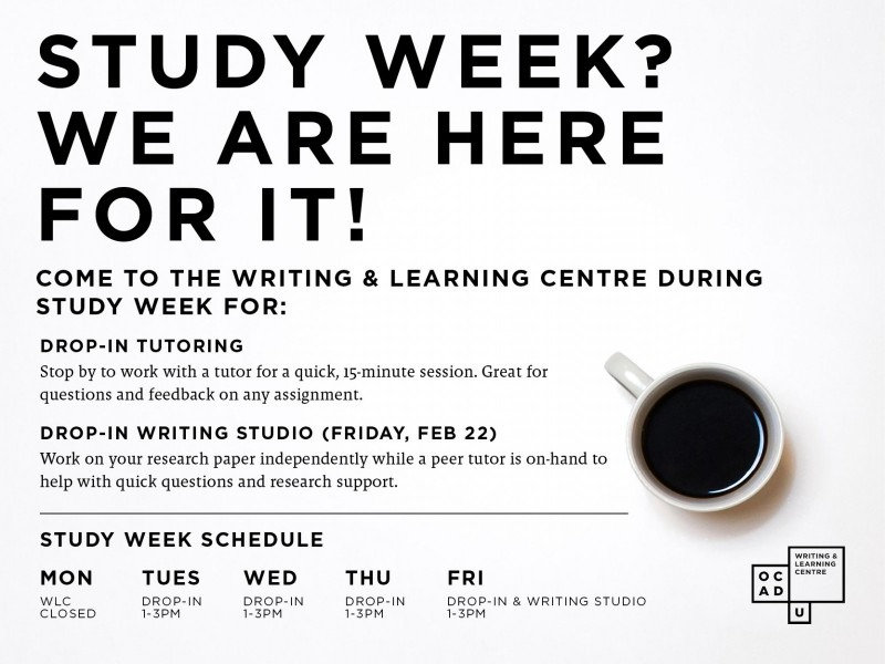study week programming and schedule
