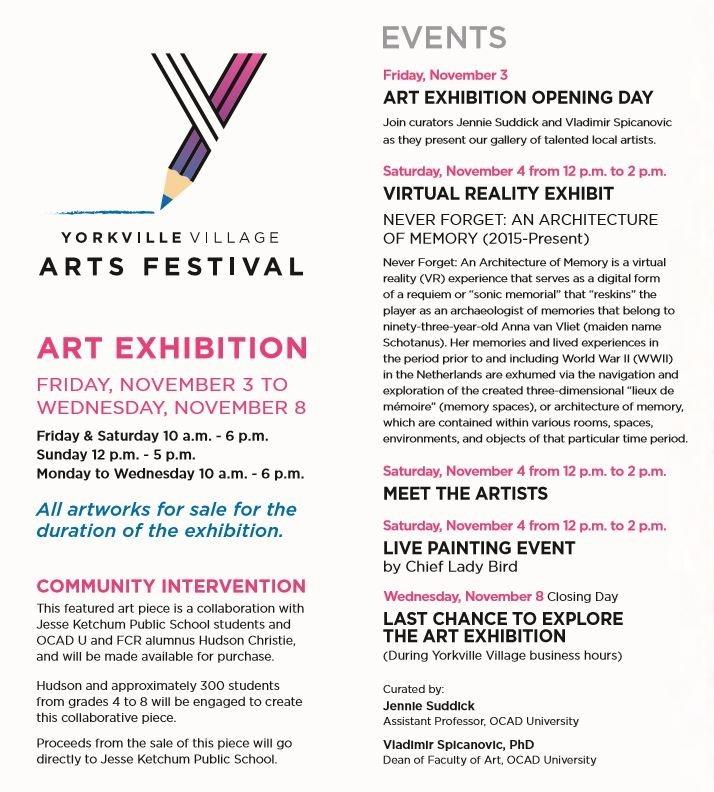Yorkville Village Arts Festival flyer
