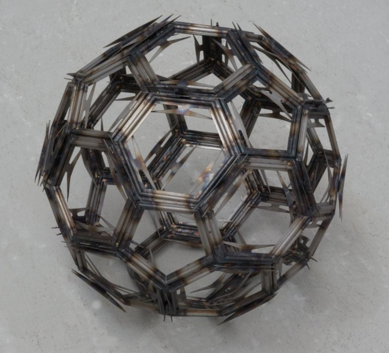 Image of a sphere made of hexagons (plastic)