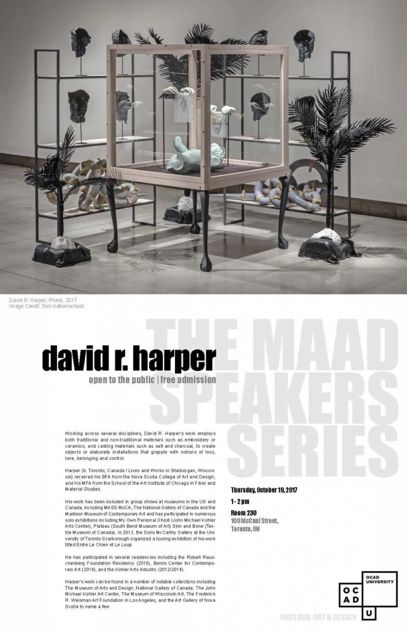 MAAD Speakers Series: Davir Harper