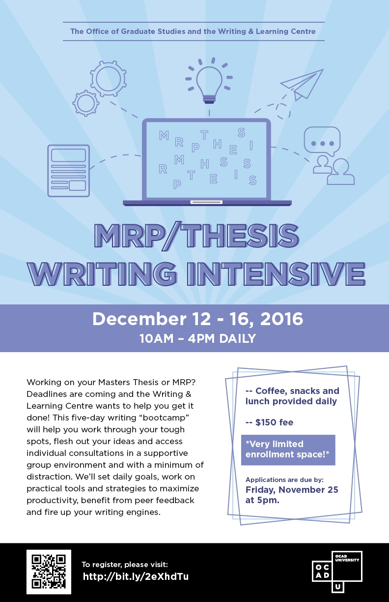 MRP/Thesis Writing Intensive