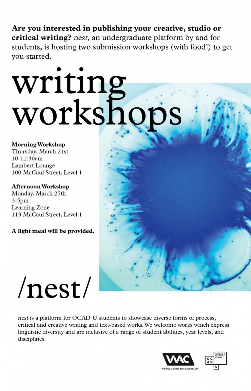 nest workshops poster