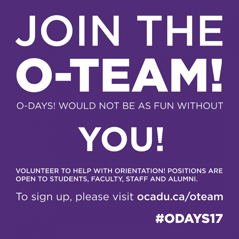 Join the O-TEAM orientation volunteer graphic