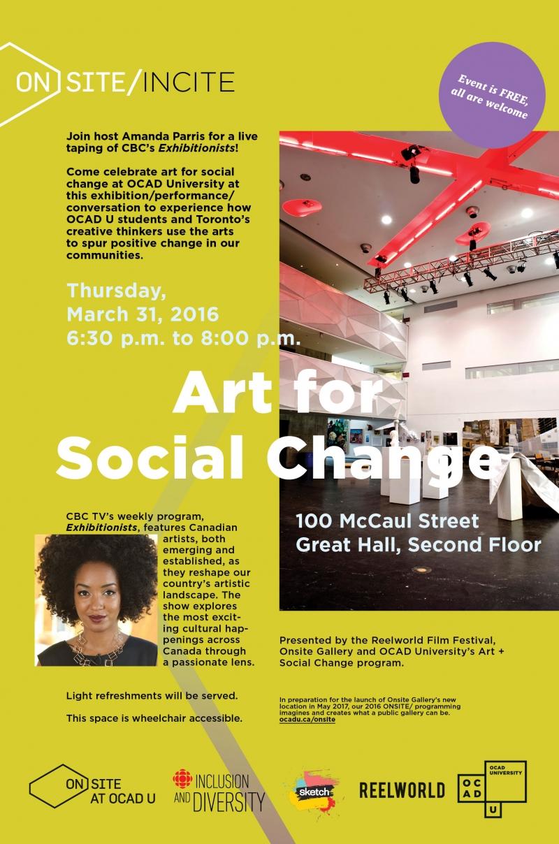 The Art for Social Change poster