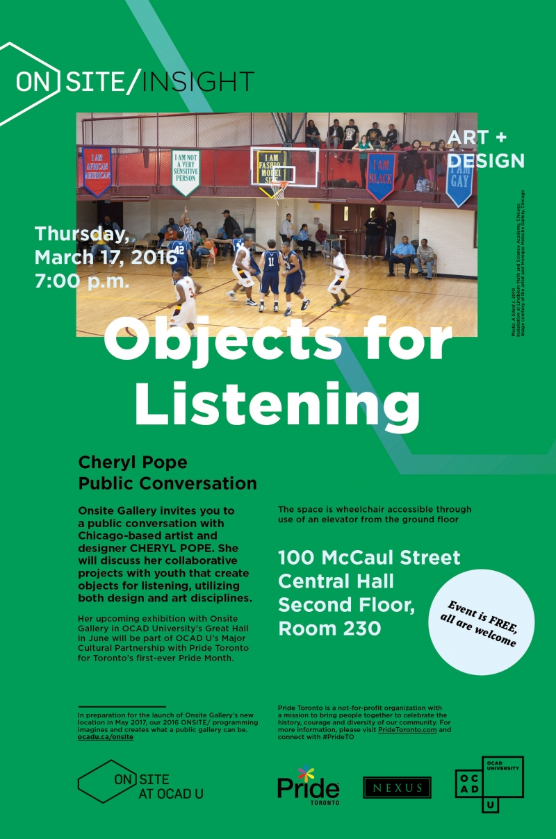 Objects for Listening Poster