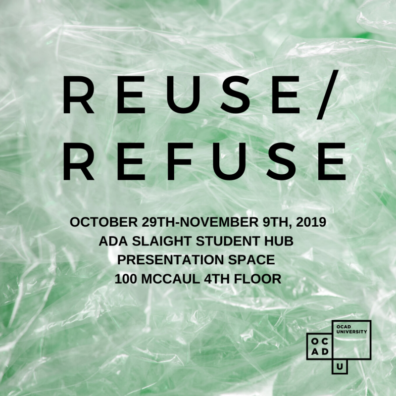 reuse refuse text on green background