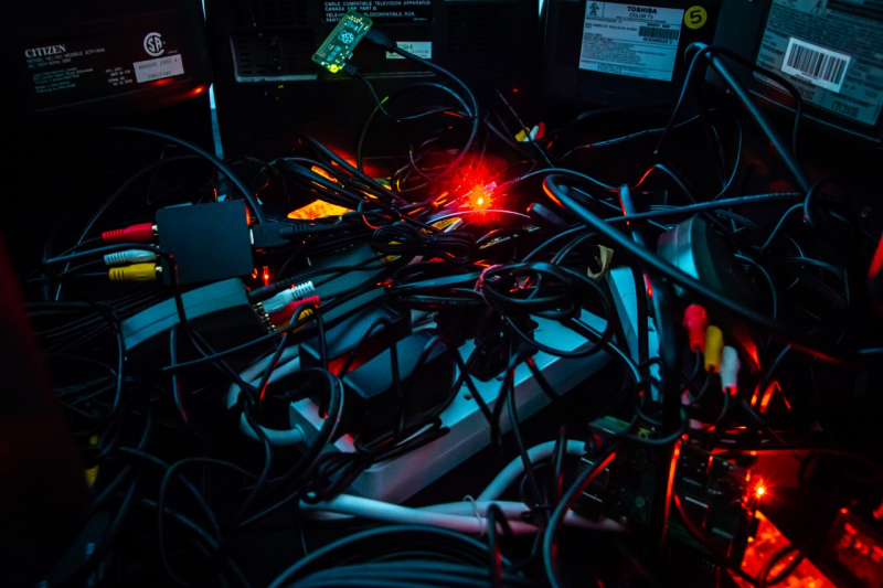 photo of electronics and wiring