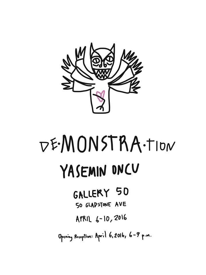 exhibition postcard - de•monstra•tion