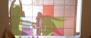 An image of someone playing the Tweetris game