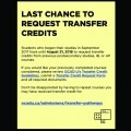 Last Chance to Request Transfer Credits
