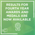 2017/18 Fourth Year Awards & Medals Program Results Now Available!