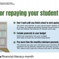 Infographic about repaying debt
