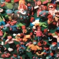 image of tiny figures made by children