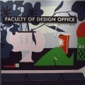 Mural of bright shapes with sign reading Faculty of Design