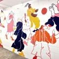Stairwell mural by Eryn Lougheed